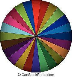 multi colorato, ombrello