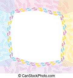 Multi-colored Baby Frame - A multi-colored frame for message...