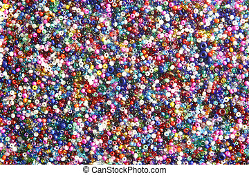 multi-colored beads - Multi-colored beads used for arts and...