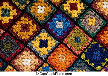 Multi colored blanket - Baby blanket of granny squares