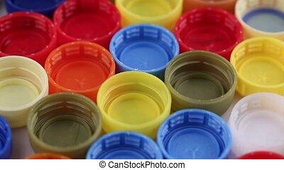 multi-colored bottle caps - multi-colored plastic bottle...