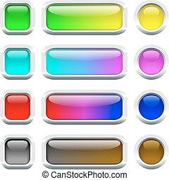 Multi-colored buttons.