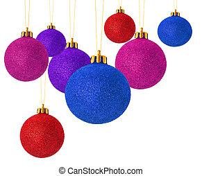 multi colored christmas balls