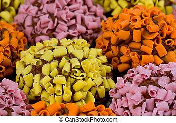 Multi Colored Cupcakes