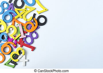 Multi-colored figures on a white background.