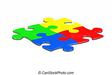 multi colored jigsaw pieces