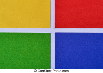 multi-colored minimalistic geometric paper background. Green, yellow, blue and red. pattern. abstract background