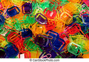 multi colored paperclips