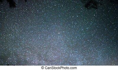Multi-colored stars in the sky. Russia