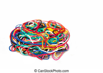 multi-colored thread - multi-colored needlecraft sewing...