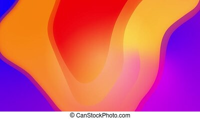 Multi colored waves iridescent geometric surface Vivid abstract loop background. Modern Concept art. Holographic motion graphic design. 4K Advertising, business presentation, wallpaper, screensaver