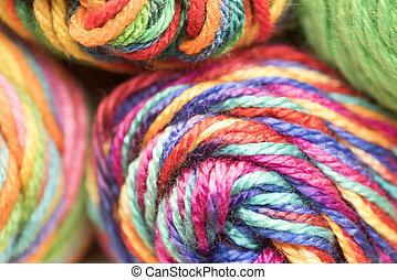 Multi-colored yarn - Several skeins of multicolored yarn...