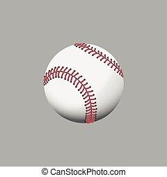 Multi colors baseball on gray background. Vector...