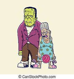 Green Monster Family