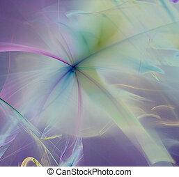 Multi Colors - multi colored curves on purple