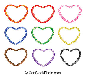 Multi Colors Noose in The Shape of Heart