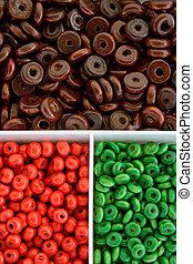 Multi colour beads