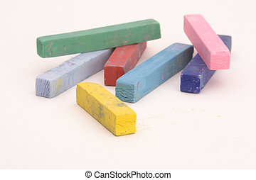 Multi Coloured Chalk sticks