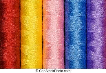 Multi coloured cotton