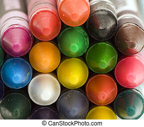 Multi coloured crayons