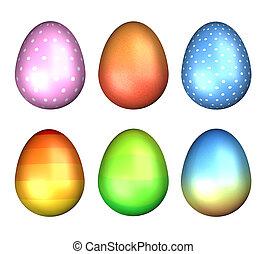 multi coloured easter eggs