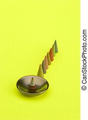 Multi Coloured insense cones