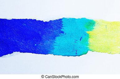 Multi-coloured paper