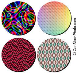 Multi Coloured Pattern Circles