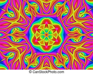 Multi coloured pattern - Abstract illustration of a Multi...