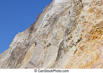 multi-coloured sand, alum bay, Isle of Wight