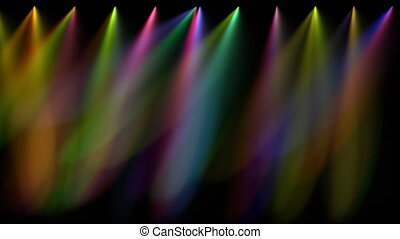 stage lights - Multi coloured stage lights, loopable