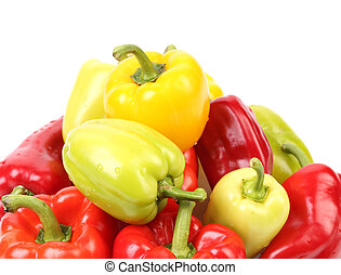 multi-couleur, peppers.