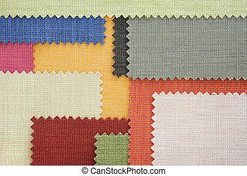 multi, couleur, tissu, texture, échantillons