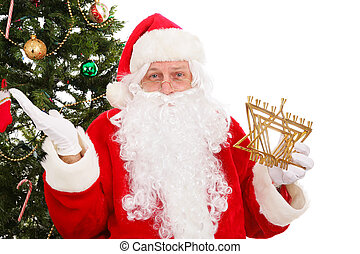 Multi Cultural Interfaith Holidays - Santa standing in front...