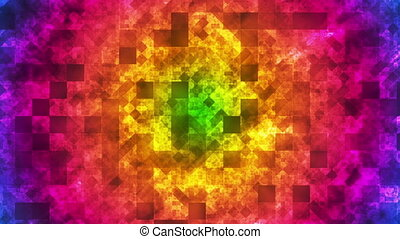 multi, diamant, high-tech, boucle, lumière, carré, couleur, motifs, scintillement, résumé, hd
