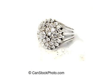 multi diamond ring
