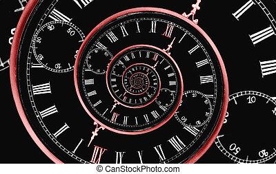 multi, espiral, tiempo
