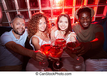 Multi-Ethnic Group of People Partying