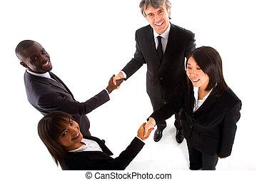 multi-ethnique, équipe