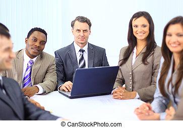 multi ethnique, cadres affaires