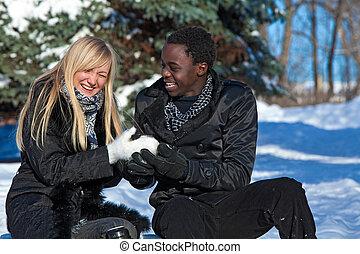 Multi-etnic couple