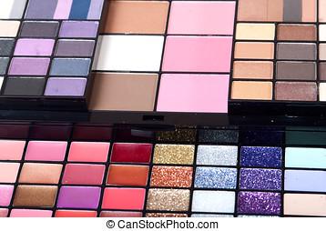 multi färgade, palett