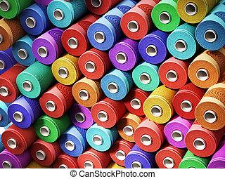 multi färgade, stackat, dragar, bakgrund., 3, illustration
