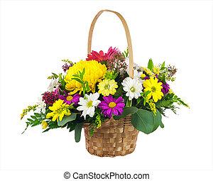 multi, fleur, coloré, bouquet, chrysanthème, autre