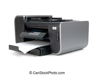 Multi Function Printer - A multi function printer isolated...