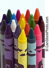 multi gekleurd, crayons