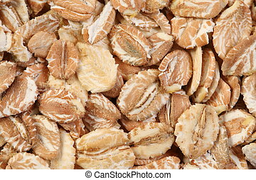 A combination of rolled oats, wheat, barley, rye.