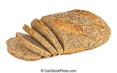 multi grain bread with slices