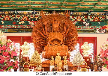 multi hands of Chinese Buddha