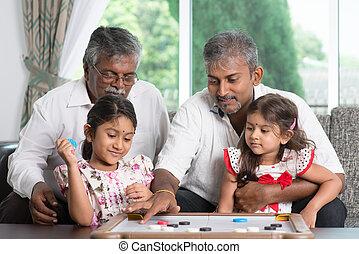 multi, juegos, generaciones, familia , juego